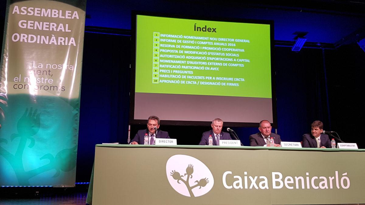Caixa Benicarló obté un 26% de benefici en 2016 i creix un 7%