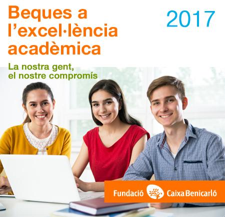 13 estudiants rebran de la Fundació Caixa Benicarló una beca de 1.000€ a l'excel·lència acadèmica