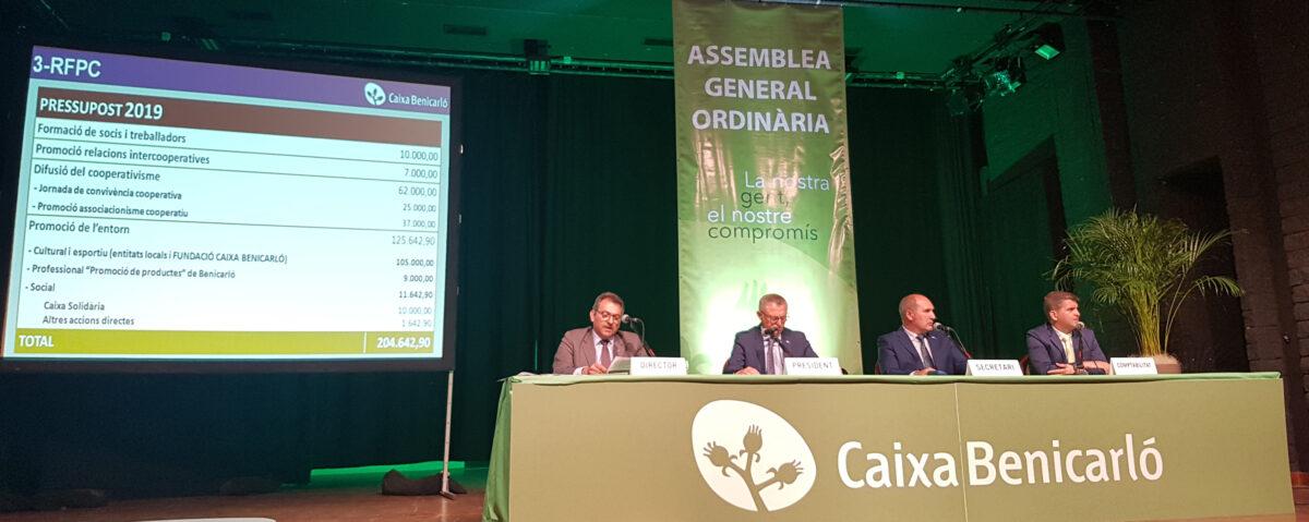 Caixa Benicarló creix un 8% en 2018